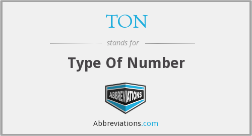 TON - Type Of Number