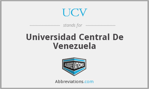 What does UCV stand for?