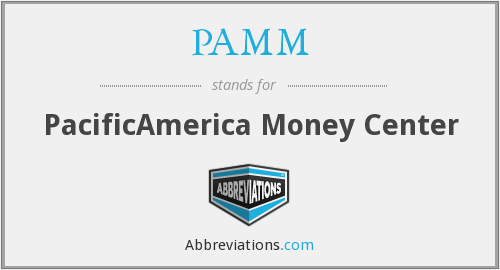 What does PAMM stand for?