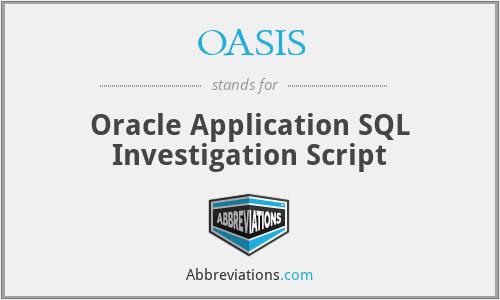 OASIS - Oracle Application SQL Investigation Script