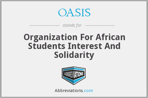 OASIS - Organization For African Students Interest And Solidarity