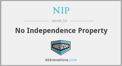 NIP - No Independence Property