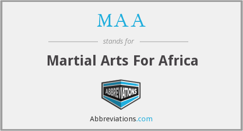 MAA - Martial Arts For Africa