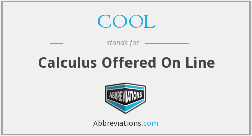 COOL - Calculus Offered On Line