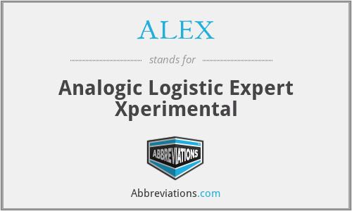 ALEX - Analogic Logistic Expert Xperimental