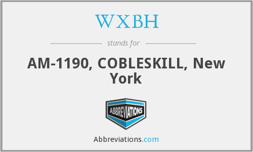What does WXBH stand for?