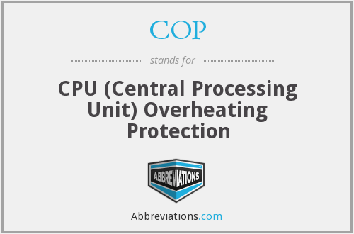 COP - CPU (Central Processing Unit) Overheating Protection