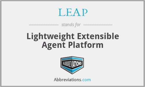 LEAP - Lightweight Extensible Agent Platform