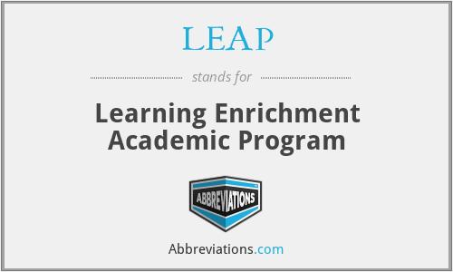 LEAP - Learning Enrichment Academic Program