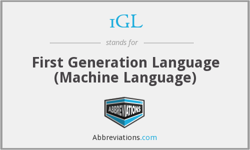 1GL - First Generation Language (Machine Language)