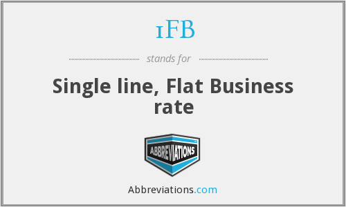 1FB - Single line, Flat Business rate