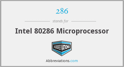 286 - Intel 80286 Microprocessor