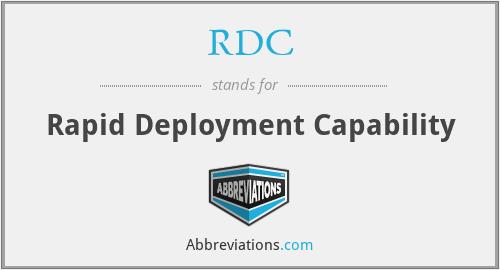RDC - Rapid Deployment Capability