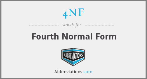 4NF - Fourth Normal Form