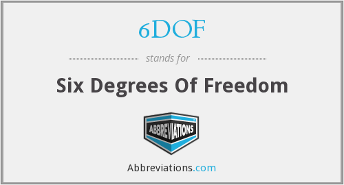 6DOF - Six Degrees Of Freedom