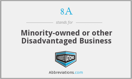 8A - Minority-owned or other Disadvantaged Business