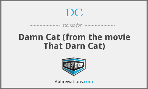 DC - Damn Cat (from the movie That Darn Cat)
