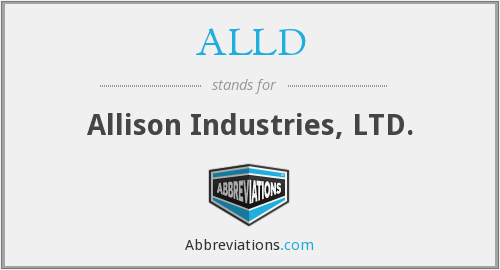 ALLD - Allison Industries, LTD.