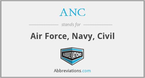 ANC - Air Force, Navy, Civil
