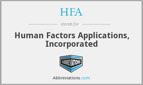 HFA - Human Factors Applications, Incorporated