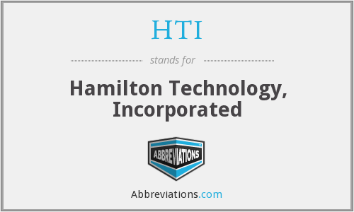 HTI - Hamilton Technology, Incorporated
