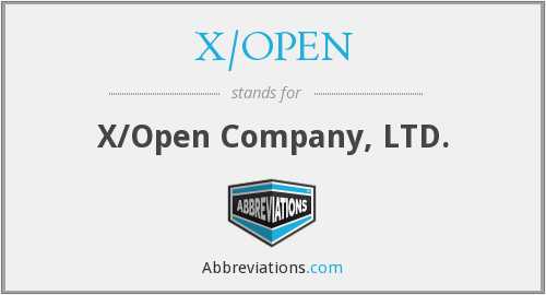 X/OPEN - X/Open Company, LTD.