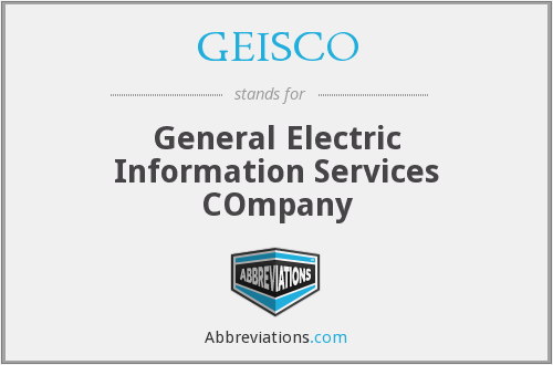 What does GEISCO stand for?
