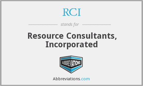 RCI - Resource Consultants, Incorporated