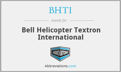 What does BHTI stand for?