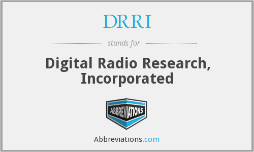 What does DRRI stand for?