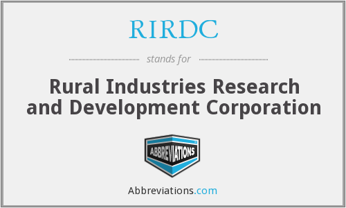 What does RIRDC stand for?