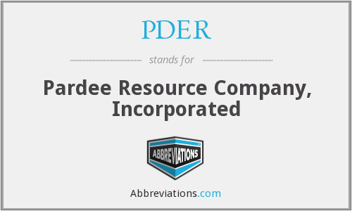 What does PDER stand for?