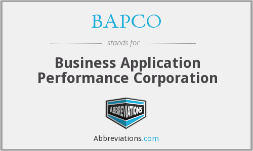 What does BAPCO stand for?