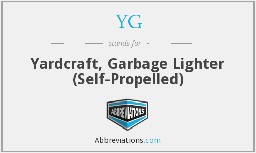 YG - Yardcraft, Garbage Lighter (Self-Propelled)