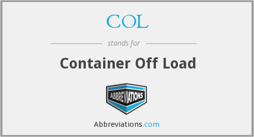 COL - Container Off Load