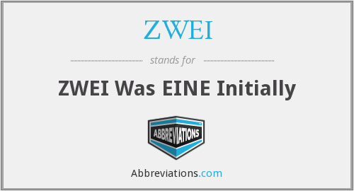 ZWEI - ZWEI Was EINE Initially