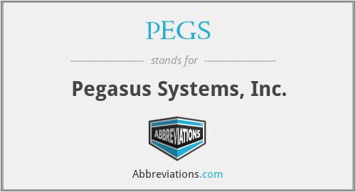PEGS - Pegasus Systems, Inc.