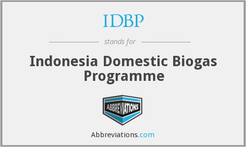 IDBP - Indonesia Domestic Biogas Programme