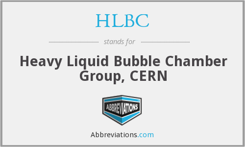 HLBC - Heavy Liquid Bubble Chamber Group, CERN