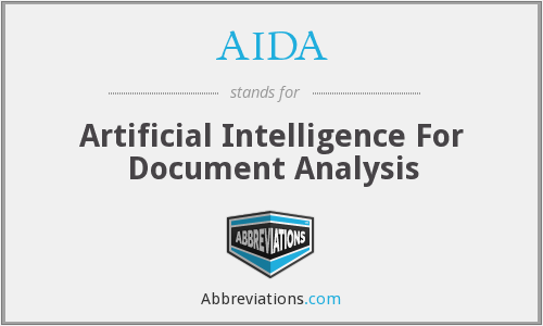 AIDA - Artificial Intelligence For Document Analysis