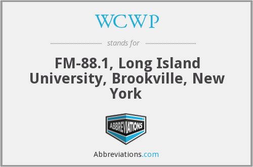 WCWP - FM-88.1, Long Island University, Brookville, New York