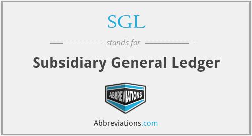 SGL - Subsidiary General Ledger