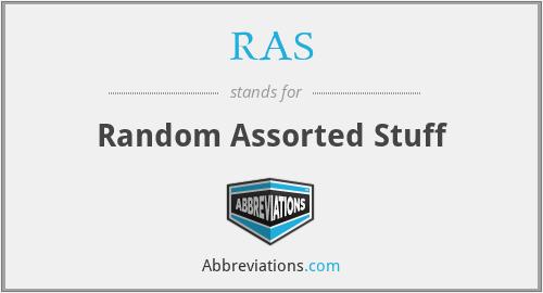 RAS - Random Assorted Stuff