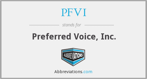 What does PFVI stand for?