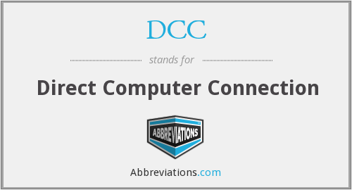 DCC - Direct Computer Connection