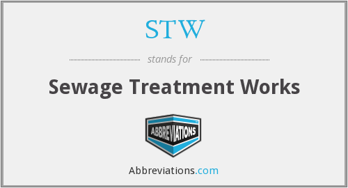 STW - Sewage Treatment Works