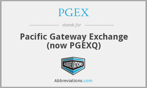 What does PGEX stand for?