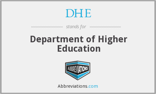 DHE - Department of Higher Education