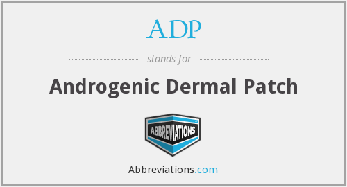 ADP - Androgenic Dermal Patch