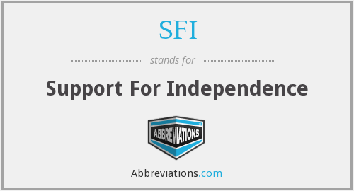 SFI - Support For Independence